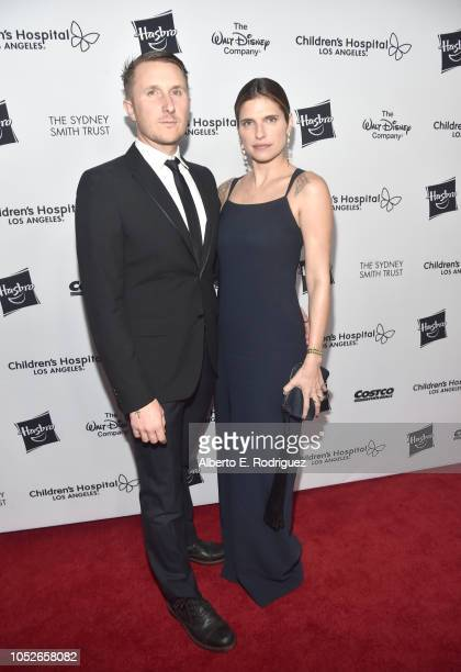 Scott Campbell and Lake Bell attend the 2018 Children's Hospital Los Angeles 'From Paris With Love' Gala at LA Live on October 20 2018 in Los Angeles...