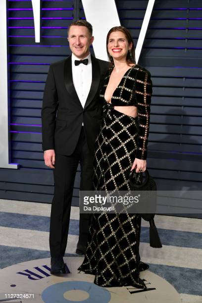 Scott Campbell and Lake Bell attend the 2019 Vanity Fair Oscar Party hosted by Radhika Jones at Wallis Annenberg Center for the Performing Arts on...
