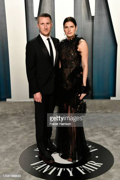 Scott Campbell and Lake Bell attend the 2020 Vanity Fair Oscar Party hosted by Radhika Jones at Wallis AnnenbeScott Campbellrg Center for the...