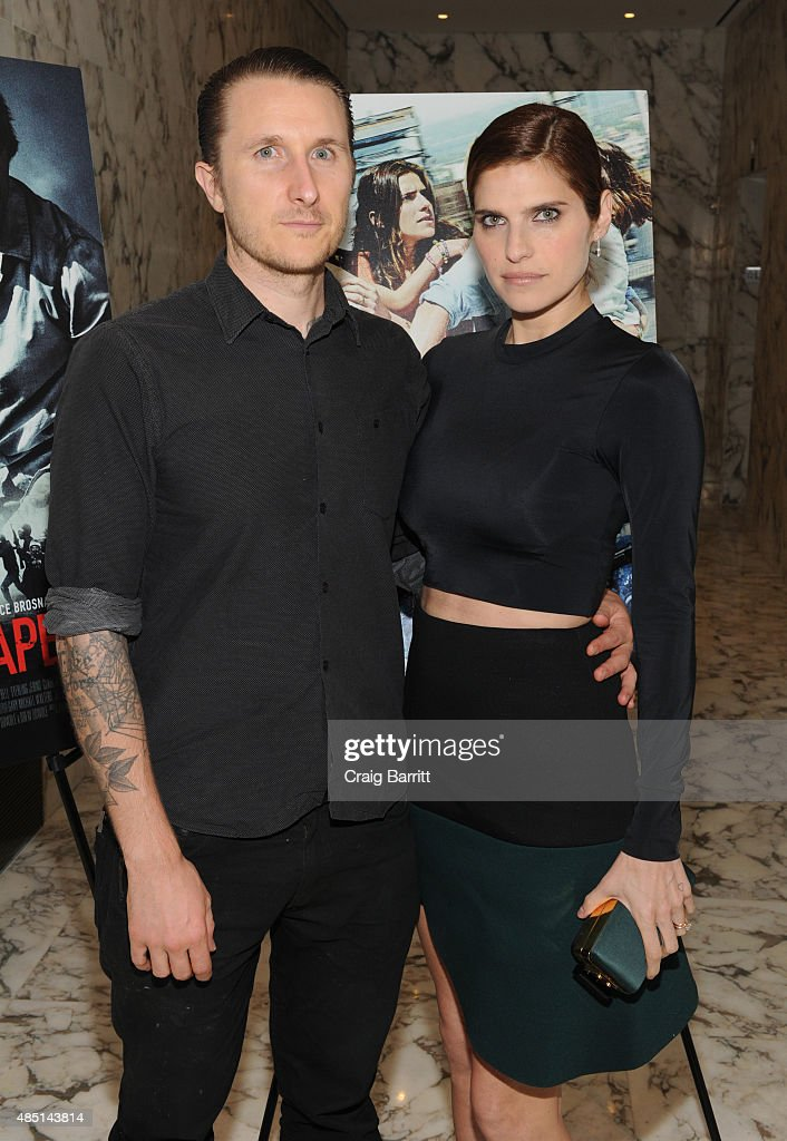 Scott Campbell and Lake Bell attend the special screening of NO ESCAPE with Owen Wilson, Lake Bell and Pierce Brosnan at Dolby 88 Theater on August 24, 2015 in New York City.