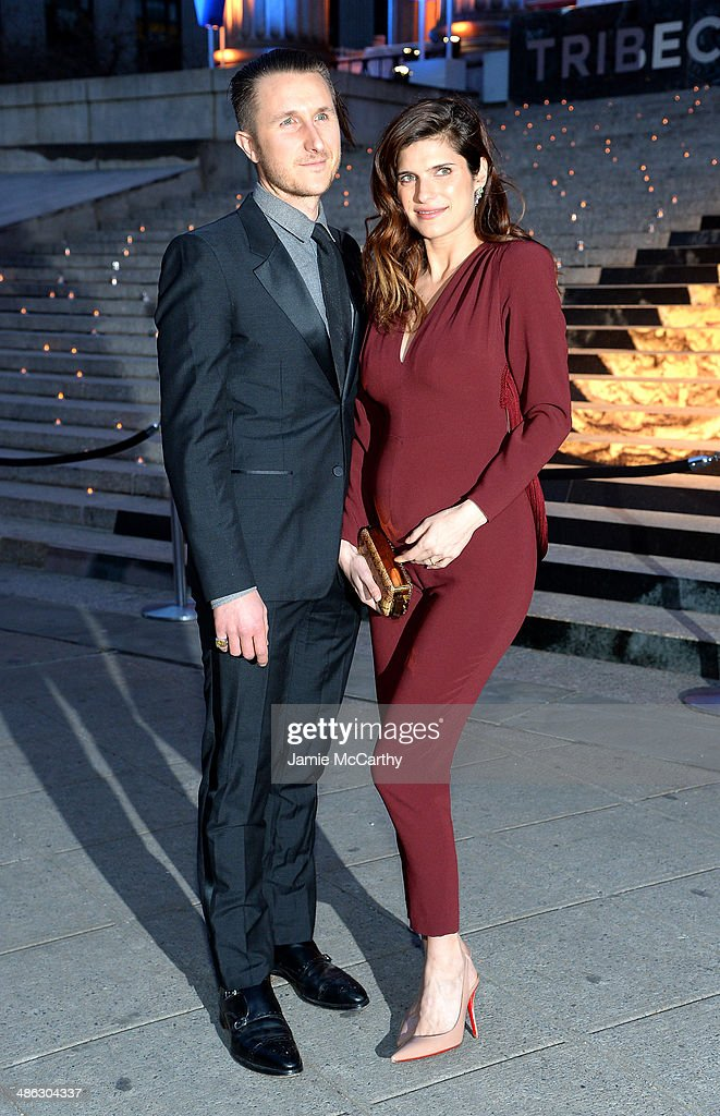 Scott Campbell and Lake Bell attend the Vanity Fair Party during the 2014 Tribeca Film Festival at the State Supreme Courthouse on April 23, 2014 in New York City.