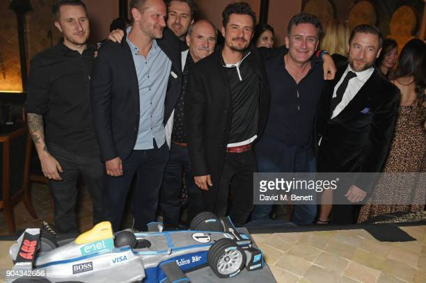 Scott Campbell Charlie Muirhead Karim Jalbout Colin Stone Orlando Bloom FIA Formula E CEO Alejandro Agag and Andres Faucher attend Orlando Bloom's...