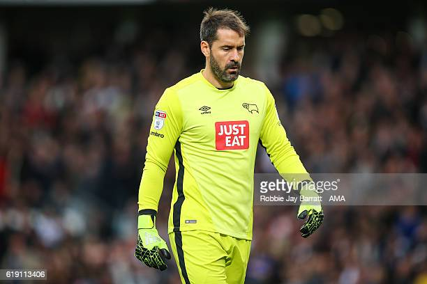 Scott Carson of Derby County during the Sky Bet Championship match between Derby County and Sheffield Wednesday at iPro Stadium on October 29 2016 in...