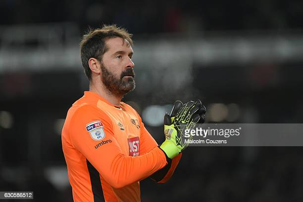 Scott Carson of Derby County during the Sky Bet Championship match between Derby County and Birmingham City at iPro Stadium on December 27 2016 in...