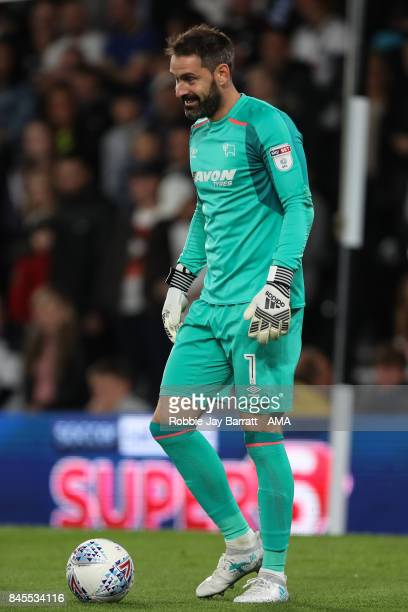 Scott Carson of Derby County during the Sky Bet Championship match between Derby County and Hull City at iPro Stadium on September 8 2017 in Derby...