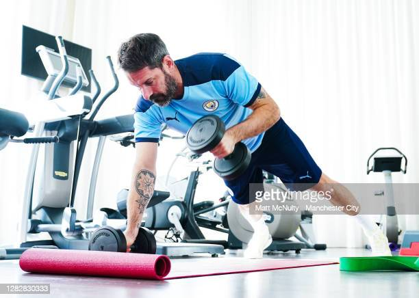 Scott Carson of Manchester City during a recovery training session at the Intercontinental Hotel on October 28, 2020 in Marseille, France.