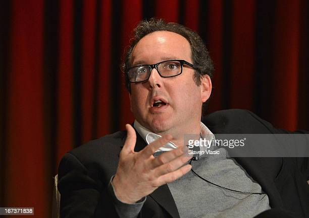 O Scott Chief Film Critic for the New York Times attends Future Of Films 'The Death Of Film Answers And Arguments' panel on April 24 2013 in New York...