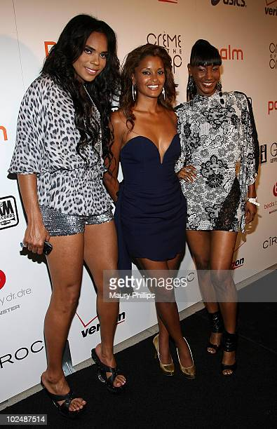 B Scott Claudia Jordan and Tanjareen Martin arrive at The 4th Annual Creme Of The Crop Post BET Awards Dinner Celebration at Mr Chow on June 27 2010...