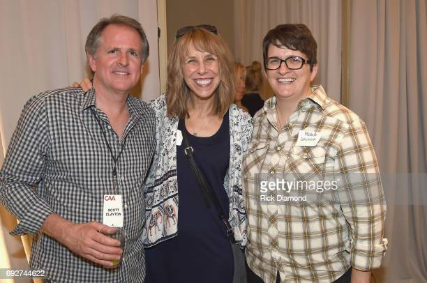 Scott Clayton Erika Nichlos and Michelle Conceison attend the 25th Annual CAA BBQ in Nashville at CAA Nashville on June 5 2017 in Nashville Tennessee