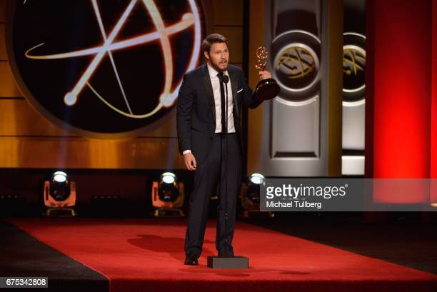 Scott Clifton accepts the award for outstanding lead actor in a drama series at the 44th annual Daytime Emmy Awards at the 44th annual Daytime Emmy...