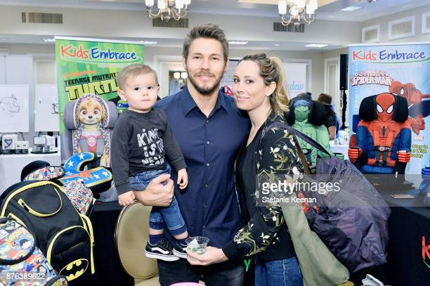 Scott Clifton and family attend Diono Presents Inaugural A Day of Thanks and Giving Event at The Beverly Hilton Hotel on November 19 2017 in Beverly...
