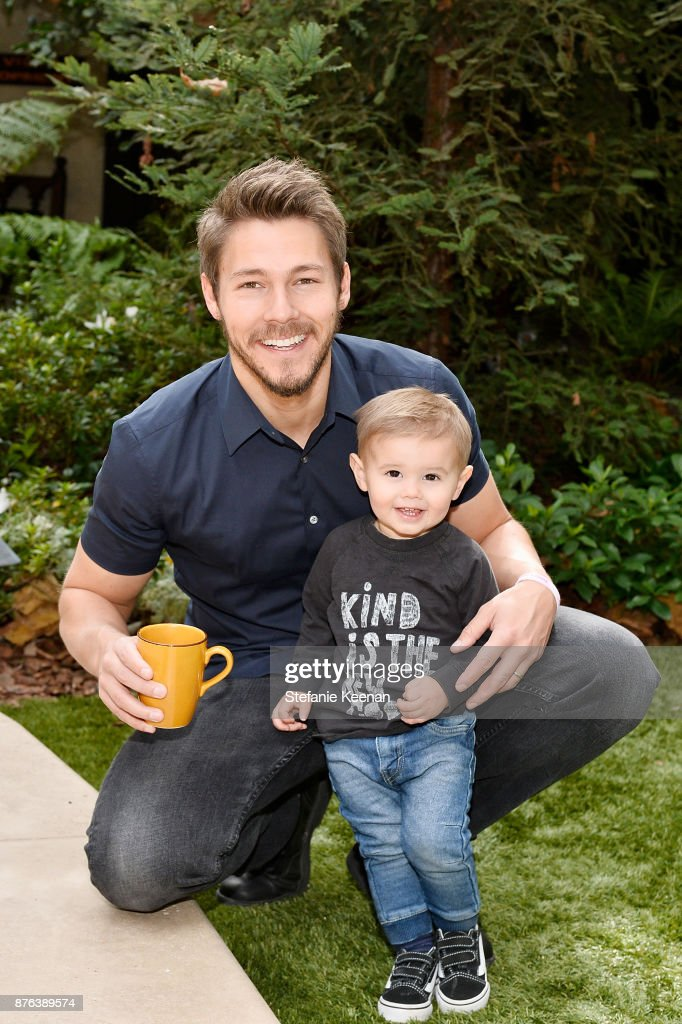 Scott Clifton and son attend Diono Presents Inaugural A Day of Thanks and Giving Event at The Beverly Hilton Hotel on November 19, 2017 in Beverly Hills, California.