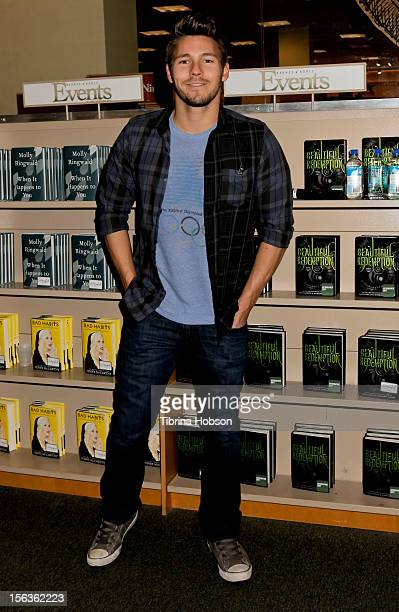 Scott Clifton attends Bradley Bell's and cast members of 'The Bold And The Beautiful' Book Signing at Barnes Noble bookstore at The Grove on November...