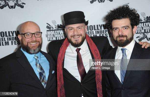 Scott Connelly Alexi Jon Baptiste and Lorenzo Matso arrive for The 2019 Hollywood Reel Independent Film Festival held at Regal LA Live Stadium 14 on...