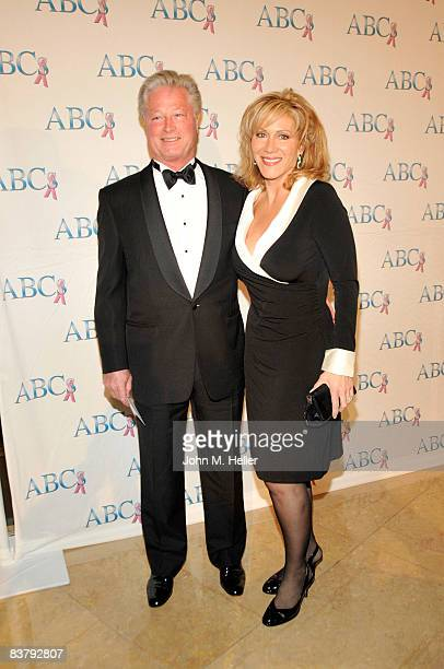 Scott Conrad and Aissa Wayne attend the Associates For Breast and Prostate Cancer Gala Honoring Actor James Caan on November 22, 2008 at the Beverly...