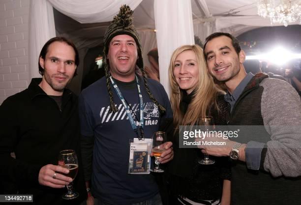 Scott Cross Eric Kaye Ileana Nicholas and Josh Green attend the Cinevegas Party at the Stella Artois Cutting Room during the 2008 Sundance Film...