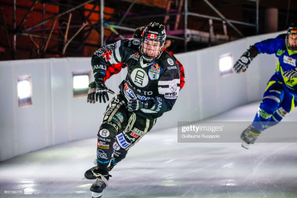 Scott Croxall during the Red Bull Crashed Ice Marseille 2018 on February 17, 2018 in Marseille, France.