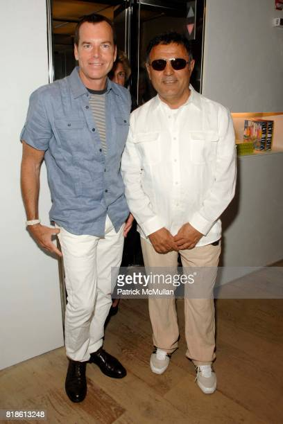 Scott Currie and Elie Tahari attend Elie Tahari hosts opening party for EQUUS with Alec Baldwin and Cast at Elie Tahari on June 18 2010 in East...