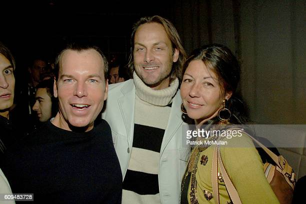 Scott Currie Andrew Brunger and Sally Randall Brunger attend ASPEN Party Hosted by PINK VODKA at Aspen on January 24 2007 in New York City