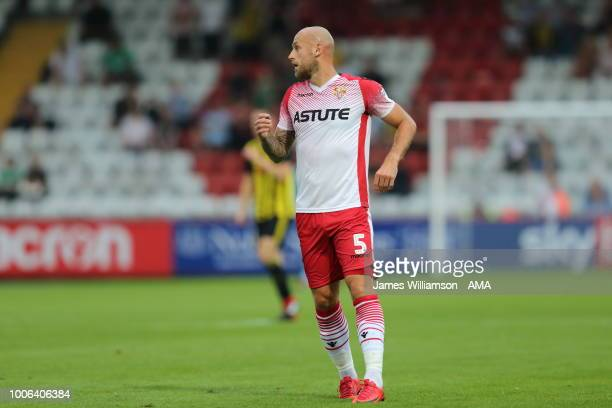 Scott Cuthbert of Stevenage during the PreSeason Friendly between Stevenage v Watford at The Lamex Stadium on July 27 2018 in Stevenage England