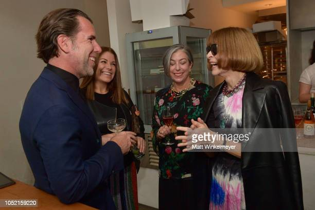 Scott Dadich Kim Kelleher and Anna Wintour attend VIP Dinner For WIRED's 25th Anniversary Hosted By Nicholas Thompson And Anna Wintour at Tartine...