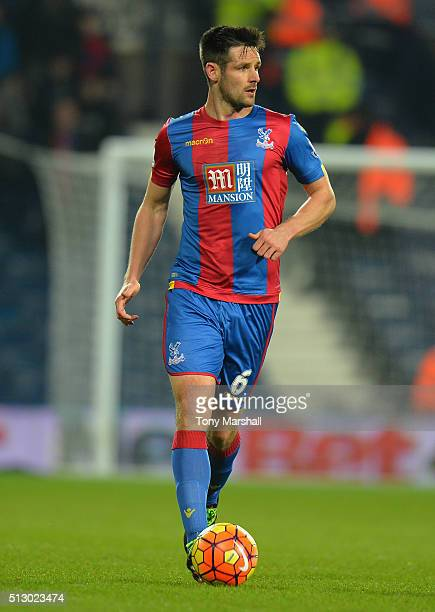 Scott Dann of Crystal Palace during the Barclays Premier League match between West Bromwich Albion and Crystal Palace at The Hawthorns on February 27...