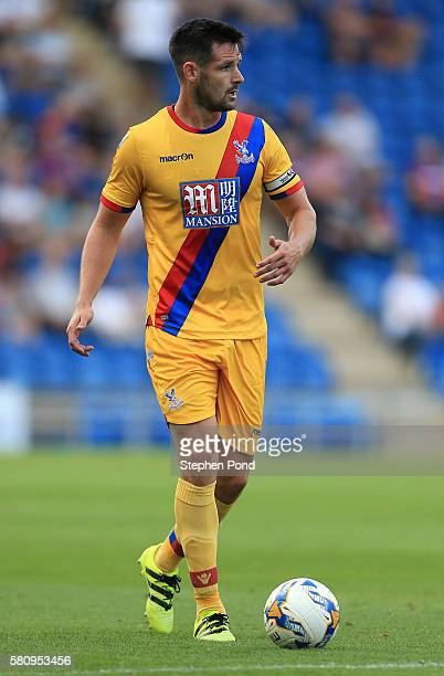 Scott Dann of Crystal Palace during the PreSeason Friendly match between Colchester United and Crystal Palace at Colchester Community Stadium on July...