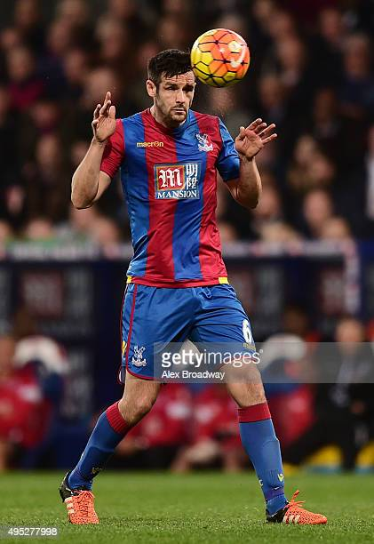 Scott Dann of Crystal Palace in action during the Barclays Premier League match between Crystal Palace and Manchester United at Selhurst Park on...