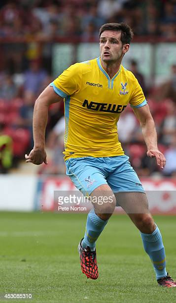 Scott Dann of Crystal Palace in action during the Pre Season Friendly match between Brentford and Crystal Palace at Griffin Park on August 2 2014 in...
