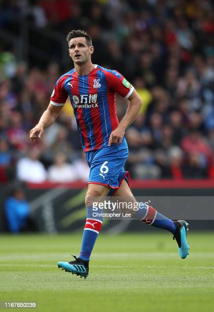 Scott Dann of Crystal Palace in action during the Premier League match between Crystal Palace and Everton FC at Selhurst Park on August 10 2019 in...