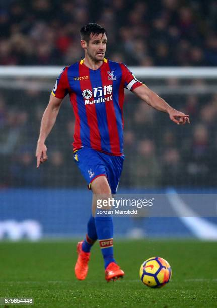 Scott Dann of Crystal Palace in action during the Premier League match between Crystal Palace and Everton at Selhurst Park on November 18 2017 in...