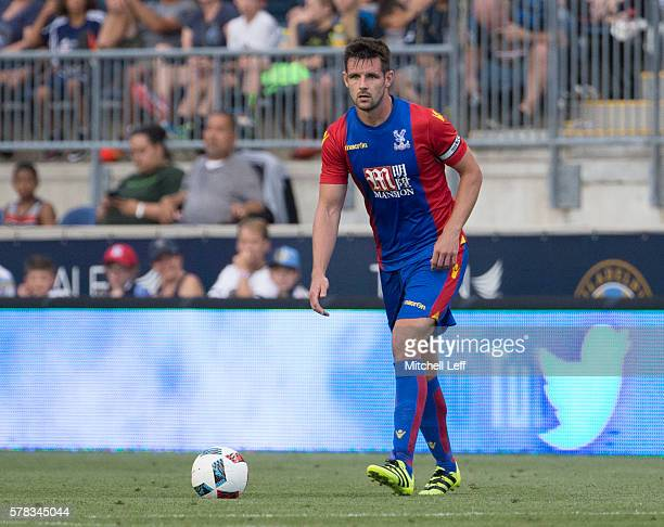 Scott Dann of Crystal Palace plays against the Philadelphia Union at Talen Energy Stadium on July 13 2016 in Chester Pennsylvania The match ended in...