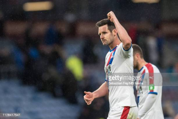 Scott Dann of Crystal Palace reaction during the Premier League match between Burnley FC and Crystal Palace at Turf Moor on March 2 2019 in Burnley...