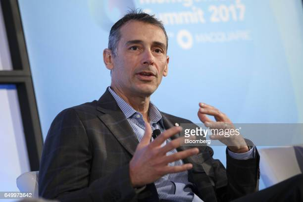 Scott Davidson chief financial officer of Hortonworks Inc speaks during The Montgomery Summit in Santa Monica California US on Wednesday March 8 2017...