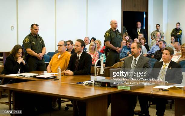 Scott Dekraai sits in court with his public defenders Lisa Kopelman left and Scott Sanders while pleading guilty to the Oct 12 2011 Seal Beach Salon...