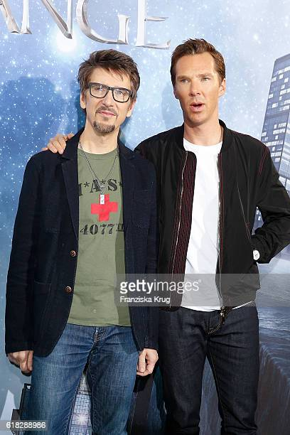 Scott Derrickson and Benedict Cumberbatch attend the 'Doctor Strange' photocall at Soho House on October 26 2016 in Berlin Germany