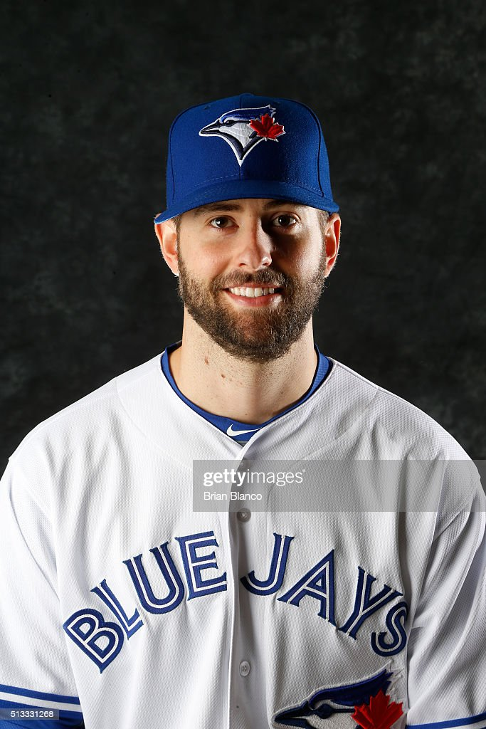 Scott Diamond #24 of the Toronto Blue Jays poses for a photo during the Blue Jays' photo day on February 27, 2016 in Dunedin, Florida.