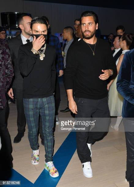 Scott Disick and Alec Monopoly celebrate The 5 year Anniversary Of The Concierge Club at The Globe and Mail Centre on February 1 2018 in Toronto...