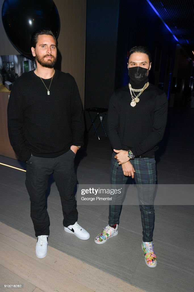 Scott Disick And Alec Monopoly celebrate The 5 year Anniversary Of The Concierge Club
