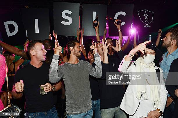 Scott Disick and Alex Monopoly attend 1OAK Nightclub at the Mirage Hotel and Casino on April 1 2016 in Las Vegas Nevada
