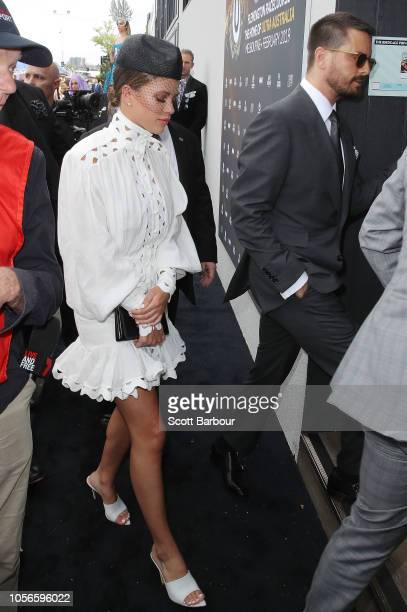 Scott Disick and and Sofia Richie attend the Ultra Marquee on Derby Day at Flemington Racecourse on November 3 2018 in Melbourne Australia