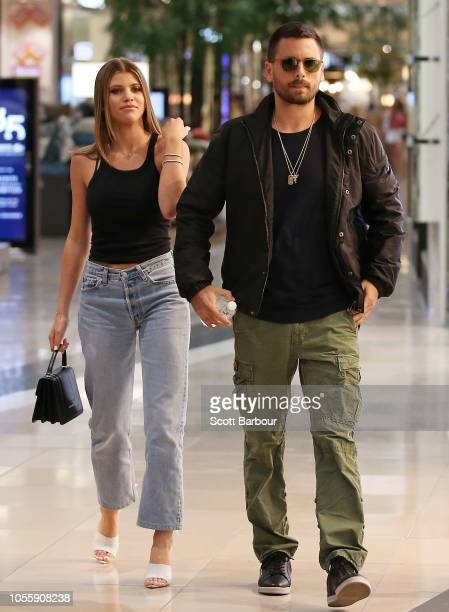 Scott Disick and and Sofia Richie make a store appearance at Windsor Smith at Chadstone Shopping Centre on November 1 2018 in Melbourne Australia