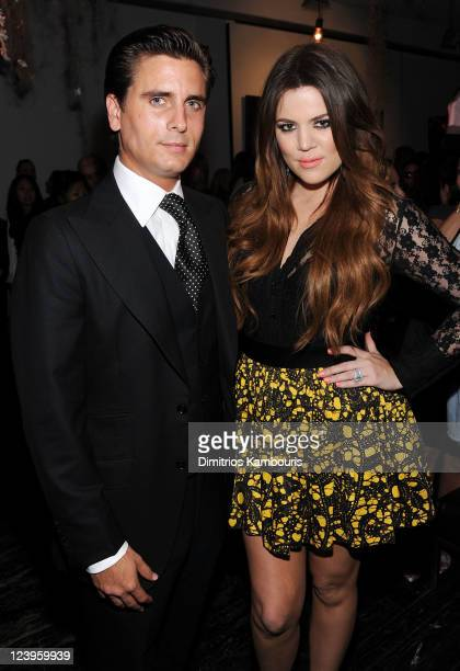 Scott Disick and Khloe Kardashian attend the Kardashian Kollection launch event on September 6 2011 in New York City