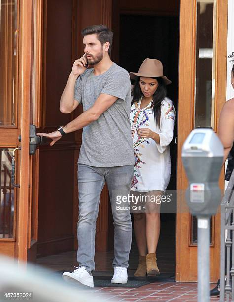 Scott Disick and Kourtney Kardashian are seen on October 16 2014 in Los Angeles California