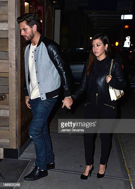 Scott Disick and Kourtney Kardashian arrive to TAO Downtown on November 4 2013 in New York City