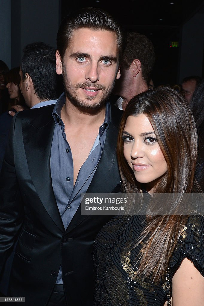 Scott Disick and Kourtney Kardashian attend the celebration of Dom Perignon Luminous Rose at Wall at W Hotel on December 6, 2012 in Miami Beach, Florida.