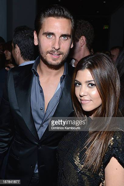 Scott Disick and Kourtney Kardashian attend the celebration of Dom Perignon Luminous Rose at Wall at W Hotel on December 6 2012 in Miami Beach Florida