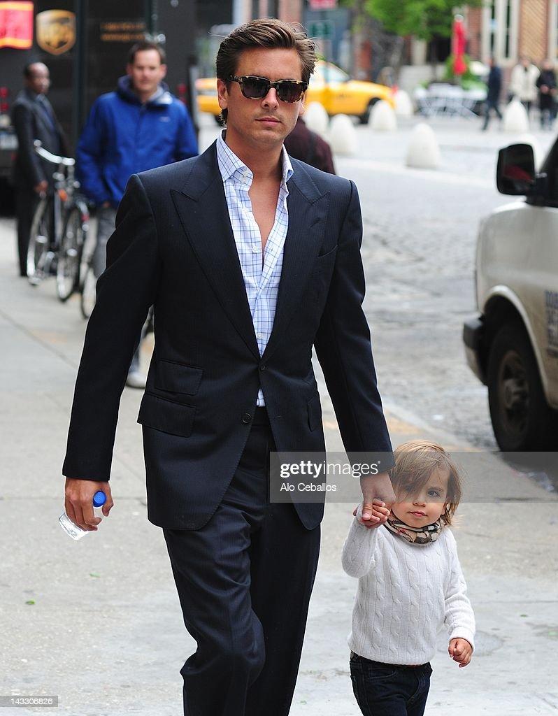 Kourtney Kardashian and Scott Disick Sighting In New York City - April 23, 2012 : News Photo