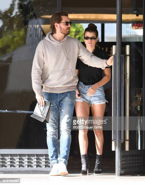 Scott Disick and Sofia Richie are seen on March 08 2018 in Los Angeles California