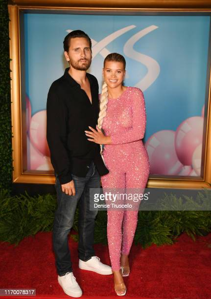 Scott Disick and Sofia Richie arrive at Sophia Richie's 21st birthday celebration at XS Nightclub at Wynn Las Vegas on August 24 2019 in Las Vegas...